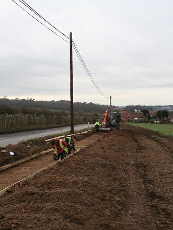 Forge Lane Footpath Construction