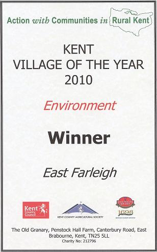 East Farleigh wins Kent Village of the Year 2010 Environment Award