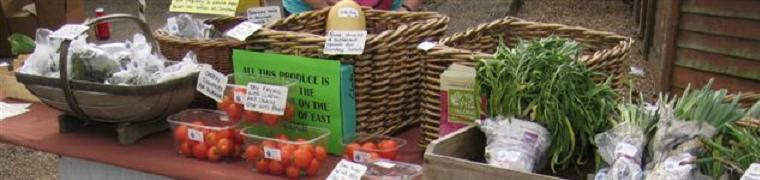 Allotment produce at the East Farleigh Farmers' Market - Photo by Sue Morris