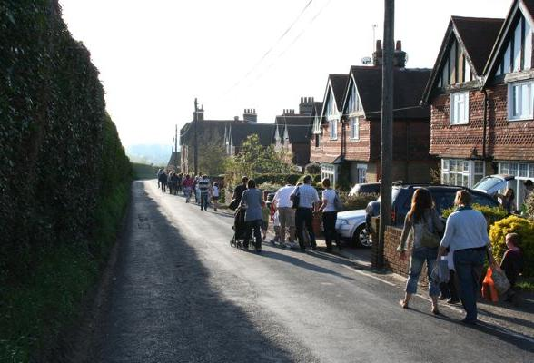 Forge Lane Footpath Opening Procession